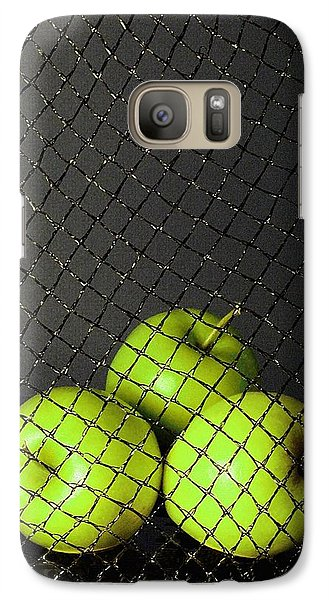 Galaxy Case featuring the photograph Three Apples by Viktor Savchenko