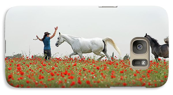 Three At The Poppies' Field Galaxy S7 Case