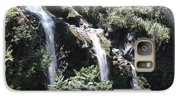 Galaxy Case featuring the photograph Upper Waikani Falls by Wilko Van de Kamp
