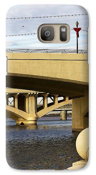 Galaxy Case featuring the photograph Three Bridges by Phyllis Denton