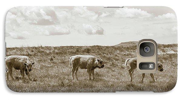 Galaxy Case featuring the photograph Three Buffalo Calves by Rebecca Margraf