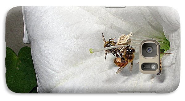 Galaxy Case featuring the photograph Three Busy Bees by Joyce Dickens