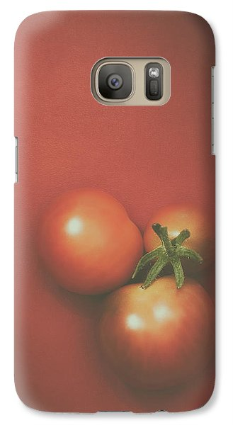 Three Cherry Tomatoes Galaxy S7 Case by Scott Norris