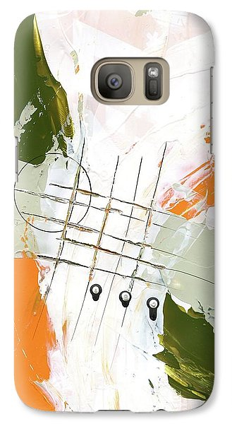 Galaxy Case featuring the painting Three Color Palette Orange 3 by Michal Mitak Mahgerefteh