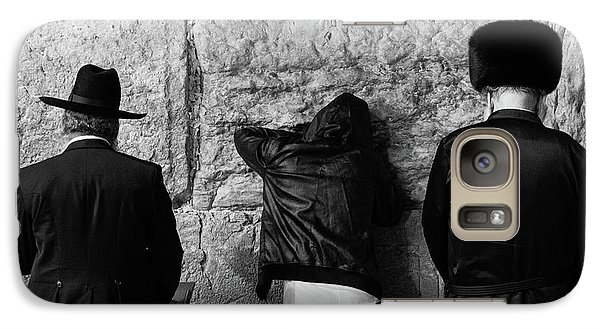 Galaxy Case featuring the photograph Three Different Selichot Prayers At The Kotel by Yoel Koskas
