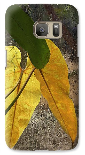 Galaxy Case featuring the photograph Three Exotic Leaves by Viktor Savchenko