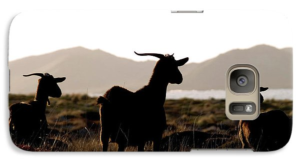 Galaxy Case featuring the photograph Three Goats by Pedro Cardona