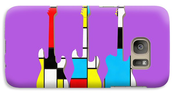 Three Guitars Modern Tee Galaxy S7 Case by Edward Fielding