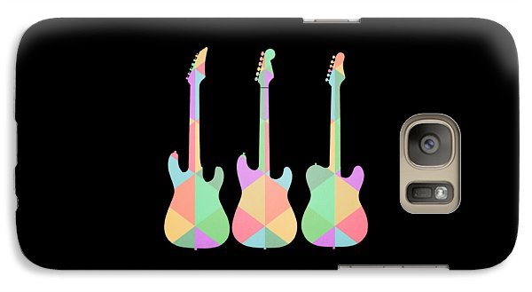 Three Guitars Triangles Tee Galaxy S7 Case by Edward Fielding