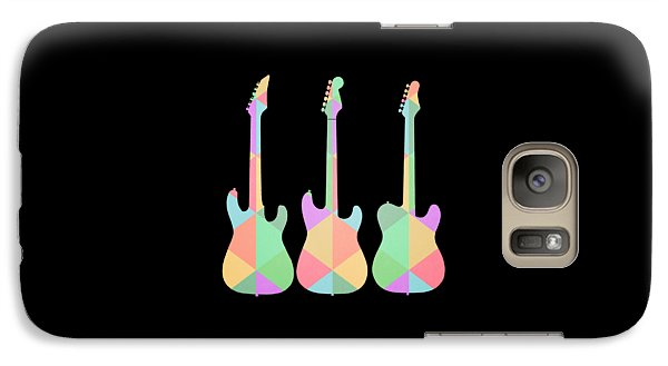 Three Guitars Triangles Tee Galaxy S7 Case by Edward Fielding