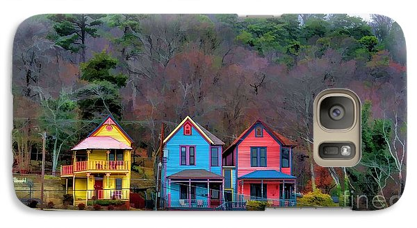 Galaxy Case featuring the photograph Three Houses Hot Springs Ar by Diana Mary Sharpton