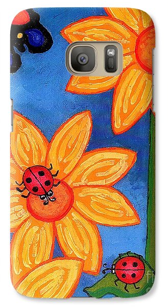 Three Ladybugs And Butterfly Galaxy S7 Case