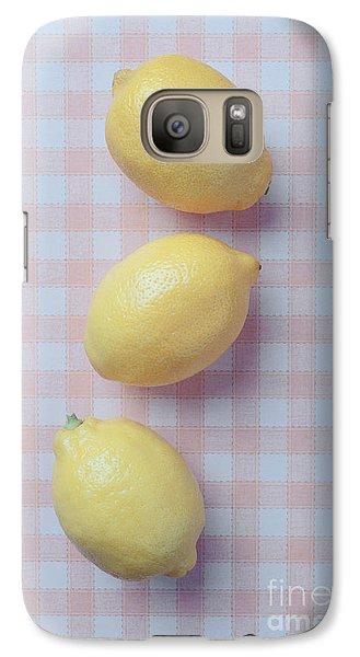 Lemon Galaxy S7 Case - Three Lemons by Edward Fielding