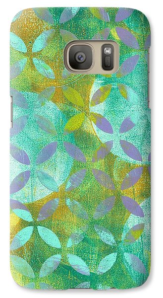 Galaxy Case featuring the mixed media Three Moons Rising by Lisa Noneman
