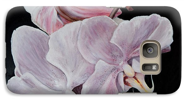 Galaxy Case featuring the painting Three Orchids by Sandra Nardone