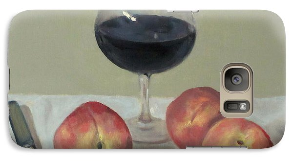 Three Peaches, Wine And Knife Galaxy S7 Case