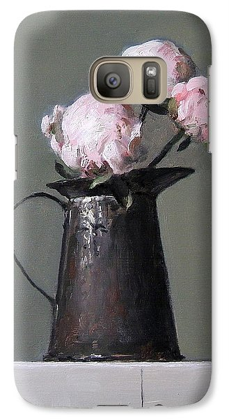 Three Peony Buds In Old Tin Can Galaxy S7 Case