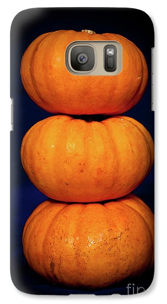 Galaxy Case featuring the photograph Three Pumpkins by Yurix Sardinelly