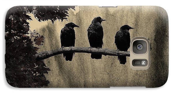 Three Ravens Branch Out Galaxy S7 Case