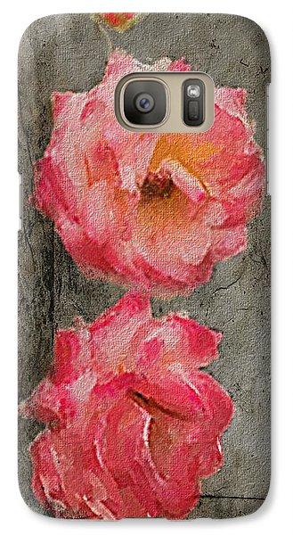 Galaxy Case featuring the digital art Three Roses by Dale Stillman