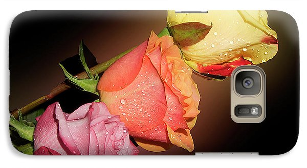 Galaxy Case featuring the photograph Three Roses by Elvira Ladocki