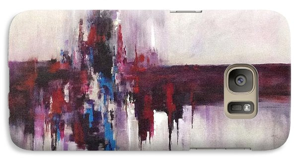 Galaxy Case featuring the painting Three Square #2 by Suzzanna Frank