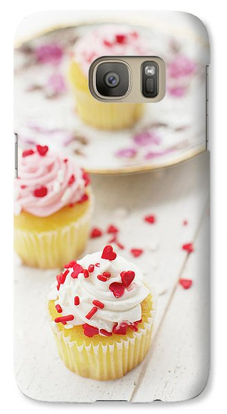Galaxy Case featuring the photograph Three Tiny Cupcakes by Rebecca Cozart
