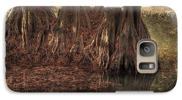 Galaxy Case featuring the photograph Three Trees In Lake Murray by Tamyra Ayles