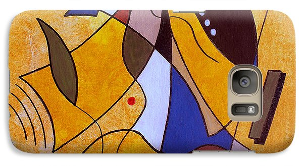 Abstract Galaxy S7 Case - Three White Petals by Ruth Palmer