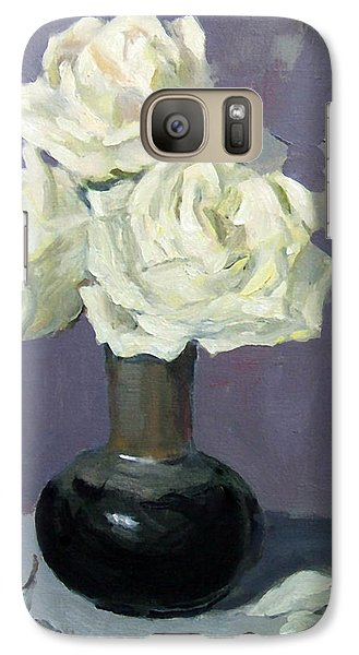 Three White Roses,abstract Background Galaxy S7 Case