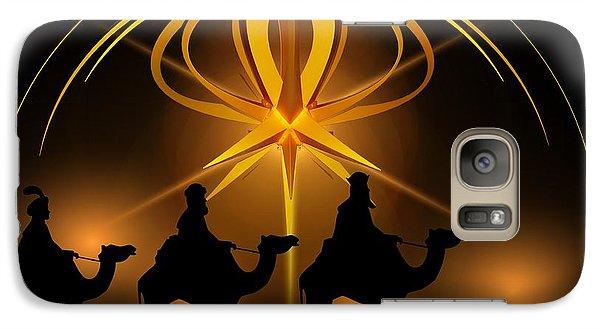 Three Wise Men Christmas Card Galaxy S7 Case