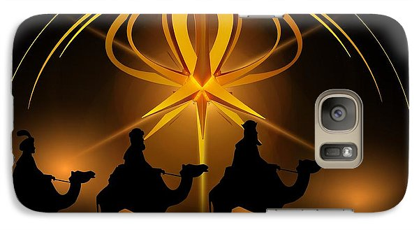 Three Wise Men Christmas Card Galaxy S7 Case