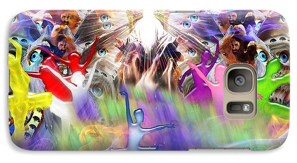Galaxy Case featuring the digital art Throneroom Dance by Dolores Develde
