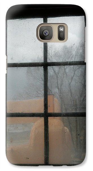 Galaxy Case featuring the photograph Through A Museum Window by Marilyn Hunt