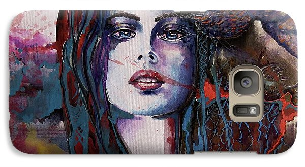 Galaxy Case featuring the painting Through My Mind by Geni Gorani