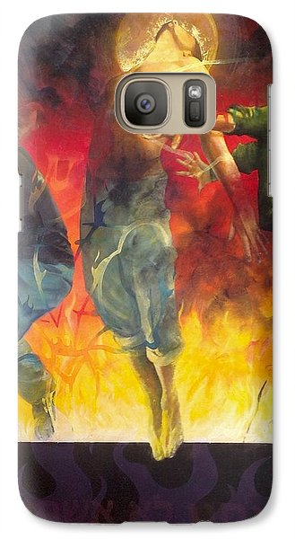 Galaxy Case featuring the painting Through The Fire by Christopher Marion Thomas