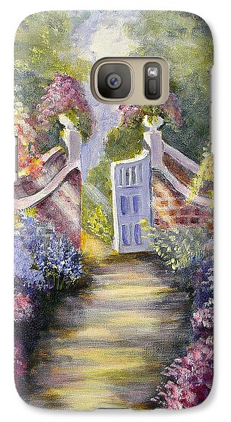 Galaxy Case featuring the painting Through The Garden Gate by Quwatha Valentine