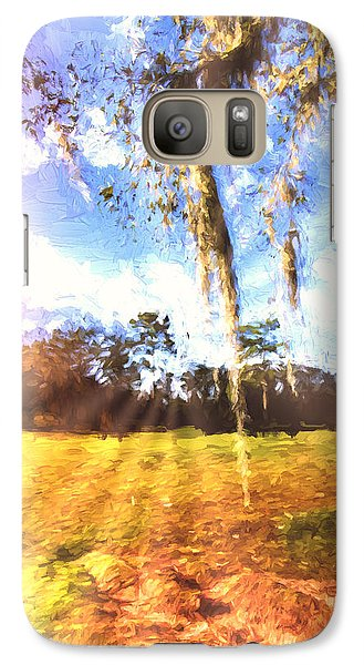 Galaxy Case featuring the painting Through The Moss by Annette Berglund