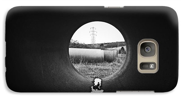 Galaxy Case featuring the photograph Through The Pipe by Keith Elliott