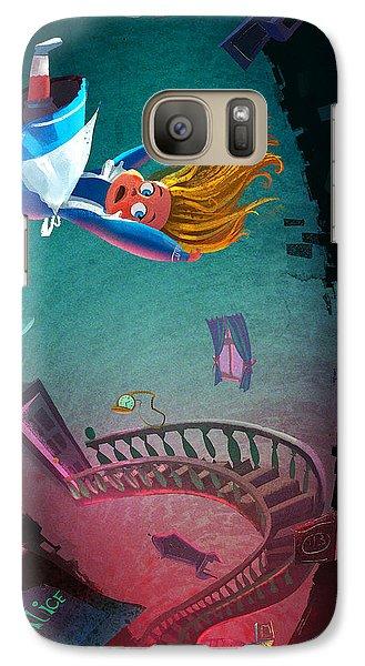 Fairy Galaxy S7 Case - Through The Rabbit Hole by Kristina Vardazaryan
