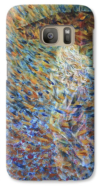 Galaxy Case featuring the painting Through The Rain by Nik Helbig