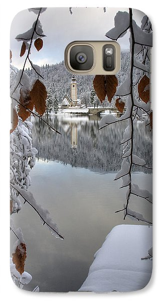 Galaxy Case featuring the photograph Through The Snow Trees by Ian Middleton
