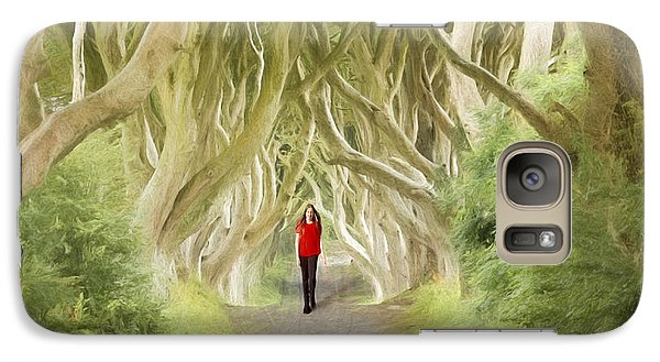 Galaxy Case featuring the photograph Through The Trees by Roy  McPeak