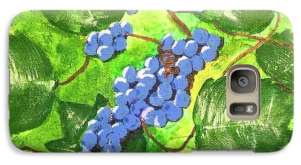 Galaxy Case featuring the painting Through The Vines by Cynthia Morgan