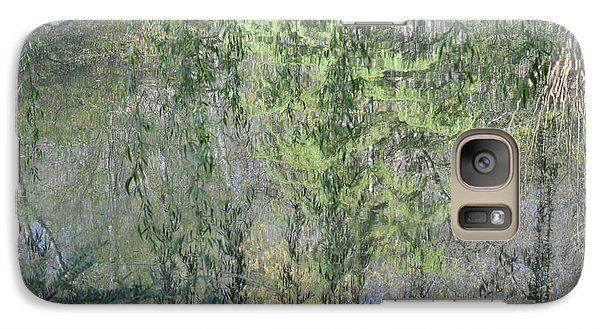 Galaxy Case featuring the photograph Through The Willows by Linda Geiger