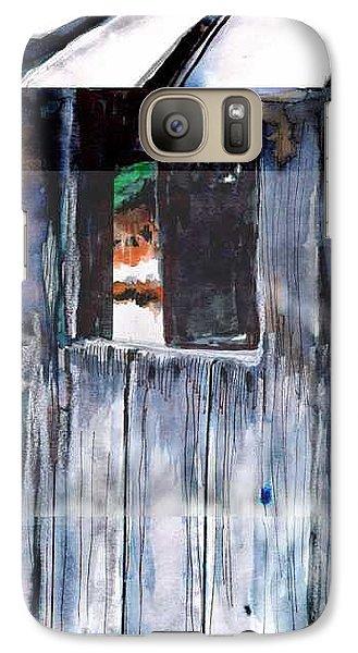 Galaxy Case featuring the drawing Thru The Barn Window by Seth Weaver