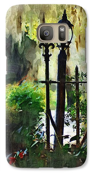 Galaxy Case featuring the digital art Thru The Gate by Donna Bentley