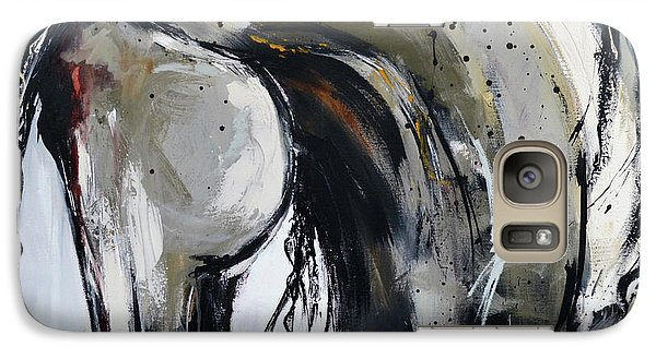 Galaxy Case featuring the painting Thunder And Lightning by Cher Devereaux