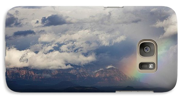 Galaxy Case featuring the photograph Thunder Mountain Rainbow From Jerome by Ron Chilston
