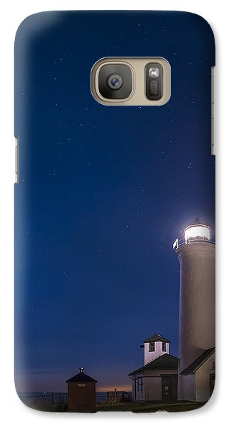 Galaxy Case featuring the photograph Tibbets Point Light Night by Mark Papke